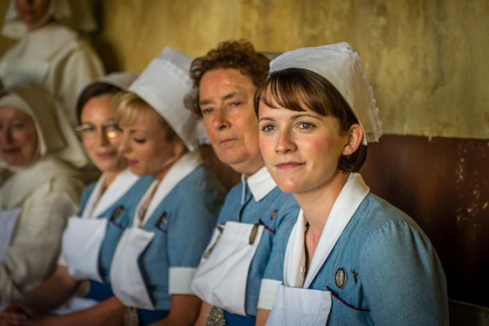 "Shelagh, Trixie, Barbara and Nurse Crane in the ""Call the Midwife"" 2016 Holiday Special (Photo: Courtesy of Neal Street Productions 2016)"