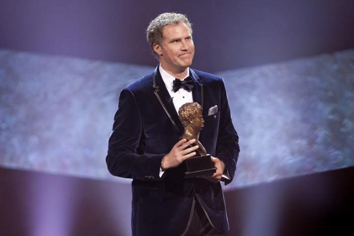 Will Ferrell accepting the 2011 Mark Twain Prize for American Humor. (Photo: PBS/Scott Suchman)