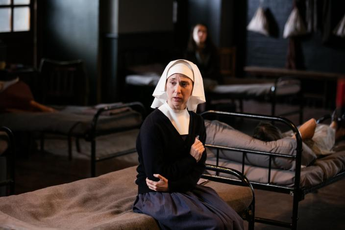 Sister Mary Cynthia (Bryony Hannah) in Lichmere Hospital (Photo: Courtesy of Neal Street Productions 2016)