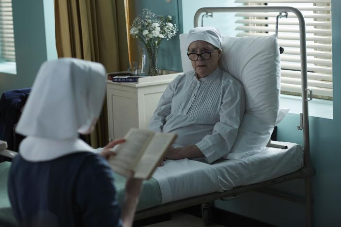 Sister Monica Joan (Judy Parfitt) recovers from surgery  (Photo Credit: Courtesy of Neal Street Productions 2017_