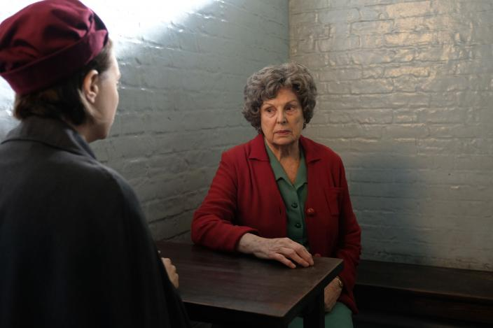 Valerie (Jennifer Kirby) talks with her gran Elsie Dyer (Ann Mitchell) in jail  (Photo Credit: Courtesy of BBC/Neal Street Productions