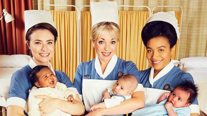 Nurse Valerie, Nurse Trixie and Nurse Lucille in Season 8 (Photo: Courtesy of Neal Street Productions)