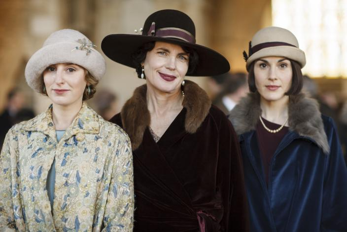 "Laura Carmichael, Elizabeth McGovern and Michelle Dockery in ""Downton Abbey"" (Photo: Courtesy of © Carnival Film and Television Limited for MASTERPIECE)"