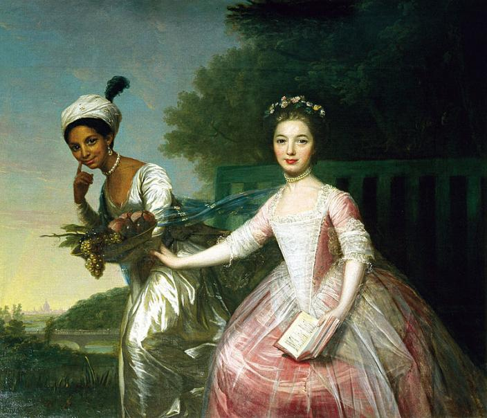 Portrait of Dido Elizabeth Belle and Lady Elizabeth Murray in the style of Johann Zoffany by David Martin. (Photo: Copyright the Earl of Mansfield)