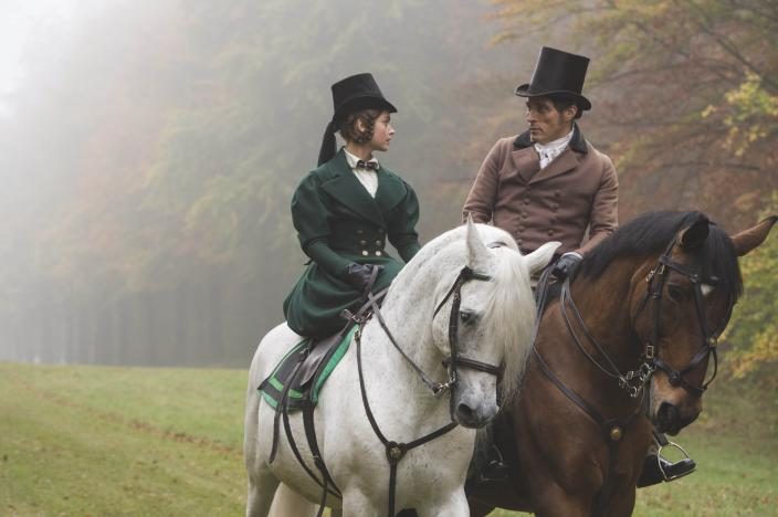 "Jenna Coleman, Rufus Sewell and some gorgeous outfits in ""Victoria"". (Photo: Courtesy of ITV Plc)"