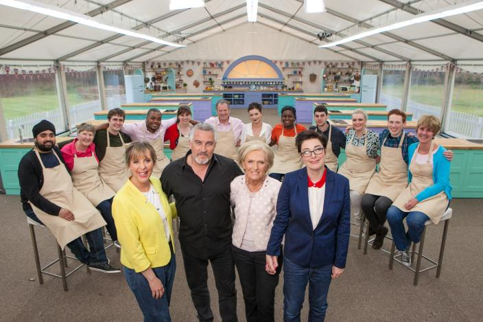 "The cast of ""The Great British Baking Show"" Season 4. (Photo: Courtesy of Mark Bourdillon, © Love Productions, worldwide)"