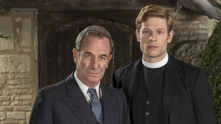 "James Norton and Robson Green in ""Grantchester"" (Photo: ITV)"
