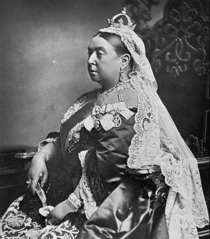 [Queen Victoria was 68 years old when she posed for her official Golden Jubilee portrait in 1887