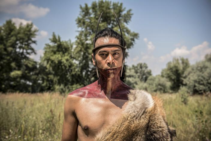 "Kalani Queypo as Chacrow in ""Jamestown"" (Photo: Carnival Films Ltd 2017)"