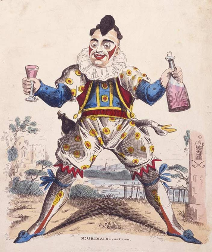 Rude, crude, and hilarious--Joseph Grimaldi, the most beloved clown of the early 19th-century.