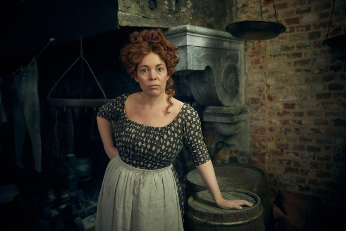 Olivia as Madame Thenardier (Photo: Robert Viglasky/Lookout Point for BBC One and MASTERPIECE)