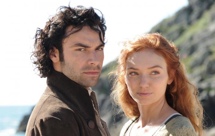 "Ross and Demelza in ""Poldark"" Season 2 (Photo: Courtesy of Mammoth Screen for BBC and MASTERPIECE)"
