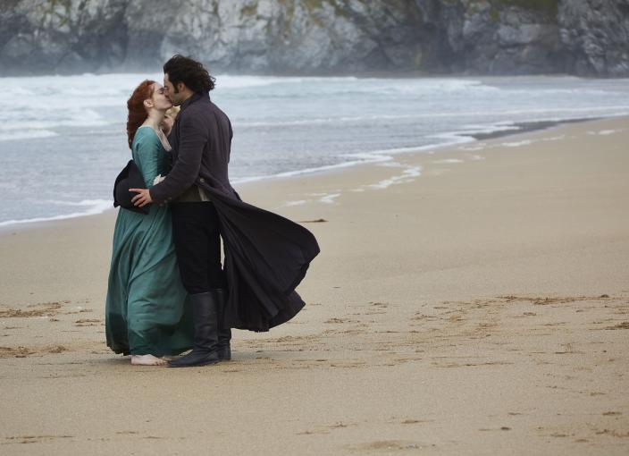 Ross and Demelza trying to work things out this season (Photo: Courtesy of Mammoth Screen for BBC and MASTERPIECE)