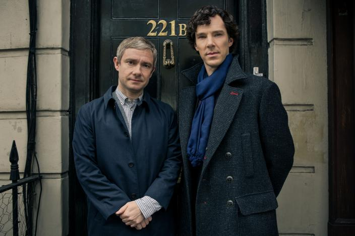 "Benedict Cumberbatch and Martin Freeman in ""Sherlock"" Season 3. (Photo: BBC/Robert Viglasky/Hartswood Films for MASTERPIECE)"