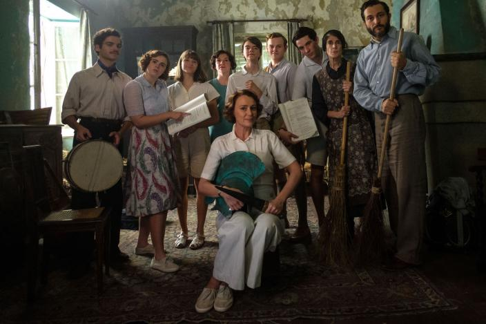 The Durrells and friends are ready to put on a show  (Photo Credit: Courtesy of Sid Gentle Films 2019)
