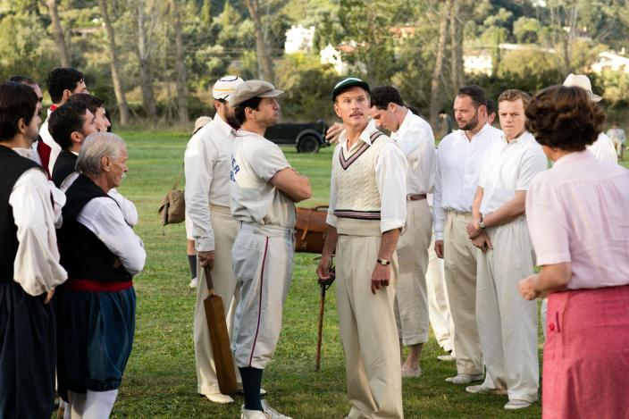 "A ""friendly"" Anglo-Greek cricket match (Photo: Courtesy of John Rogers/Sid Gentle Films for ITV and MASTERPIECE)"