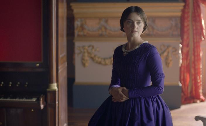 "Jenna Coleman as Queen Victoria in ""The Luxury of Conscience"" (Photo:  Courtesy of ©ITVStudios2017 for MASTERPIECE)"