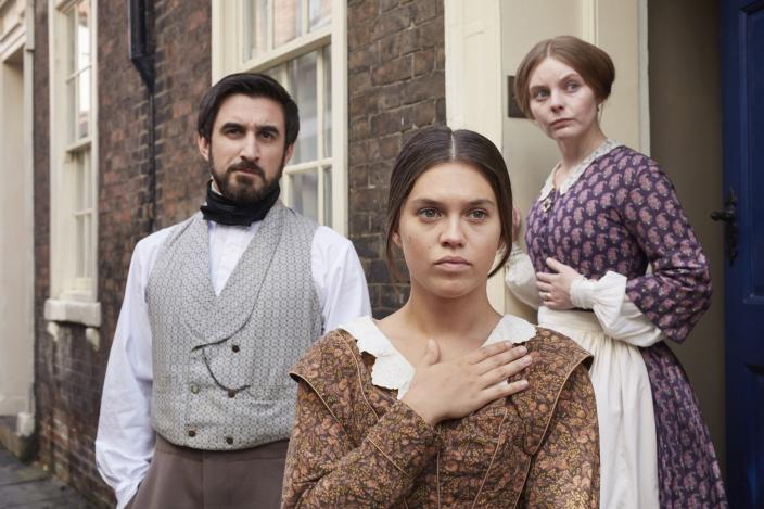 Francatelli, Skerrett and Abigail (Photo: Courtesy of Justin Slee/ITV Plc for MASTERPIECE)