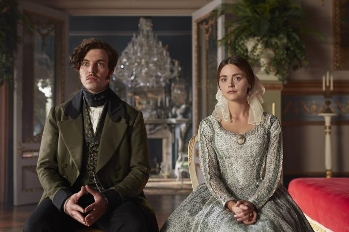 "Jenna Coleman and Tom Hughes in ""Victoria"" Season 3  (Photo: Courtesy of Justin Slee/ITV Plc for MASTERPIECE)"
