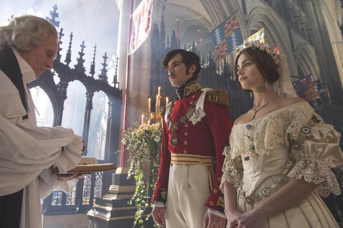 Victoria actually started the whole white wedding dress trend.  (Photo: Courtesy of ITV Plc)