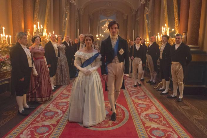 Victoria and Albert look pretty regal.  (Photo: Courtesy of ITV Plc)