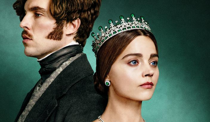 "Jenna Coleman and Tom Hughes in the ""Victoria"" Season 3 key art (Photo: Courtesy of PBS/MASTERPIECE)"