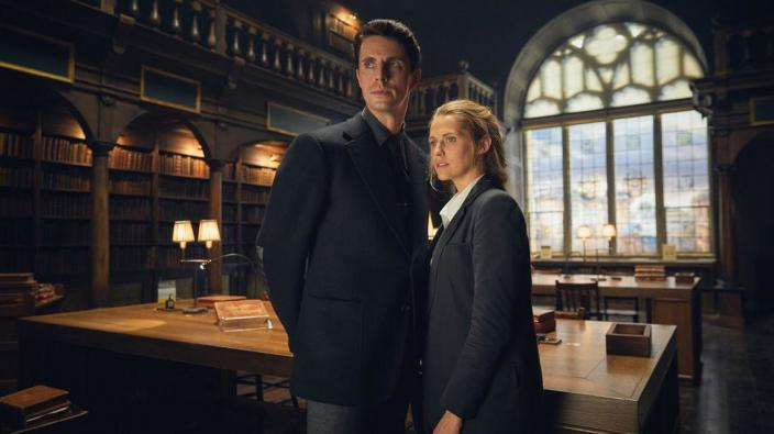 "Matthew Goode and Teresa Palmer in ""A Discovery of Witches"" (Photo: Sky One/Bad Wolf Productions)"