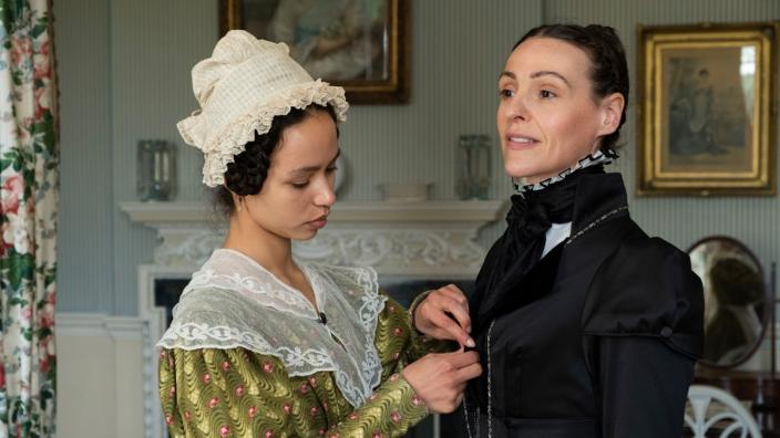 Anne Lister (Suranne Jones) and Eugenie (Albane Courtois). Photo: HBO