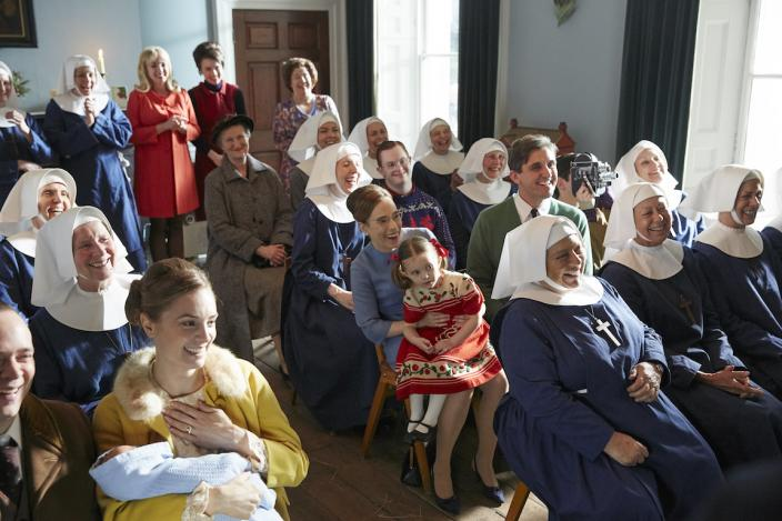 A delightful natiivity play ensues featuring many happy children and a delighted audience of nuns and guests (Photo Credit: Courtesy of Neal Street Productions 2018)