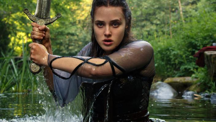 "Katherine Langford as Nimue in ""Cursed"" (Photo: Netflix)"
