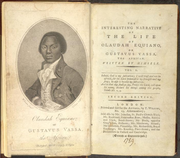The Interesting Narrative of the Life of Olaudah Equiano, or Gustavus Vassa, the African (1789), Public Domain, The British Library.