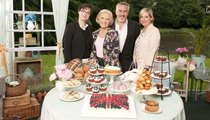 Sue Perkins, Mary Berry, Paul Hollywood and Mel Giedroyc return to the tent for season 5 of 'The Great British Baking Show'    Credit: Courtesy of Love Productions