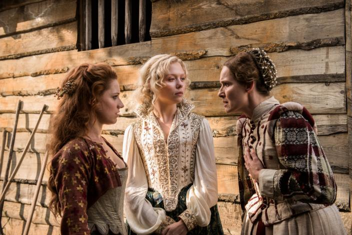 "Niamh Walsh, Naomi Battrick and Claire Cox in ""Jamestown"" (Photo: Carnival Films Ltd 2017)"