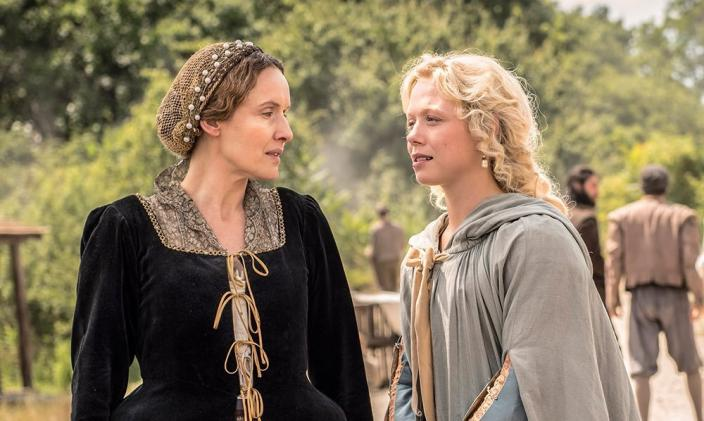"Claire Cox and Naomi Battrick in ""Jamestown"" (Photo: Carnival Films Ltd 2017)"