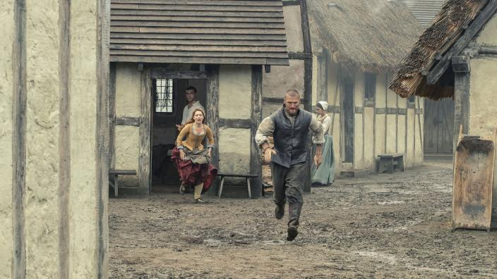 "Drama in ""Jamestown"" (Photo: Courtesy of Carnival Film & Television Limited 2019)"