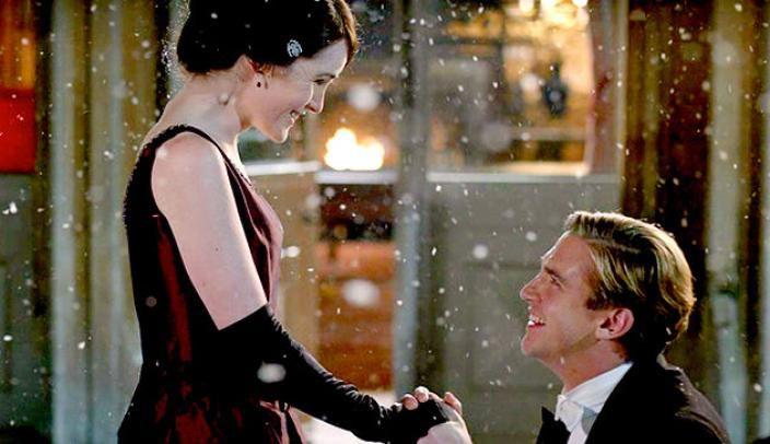 matthew and mary finally get their act together and its perfect photo itv - Downton Abbey Christmas Special