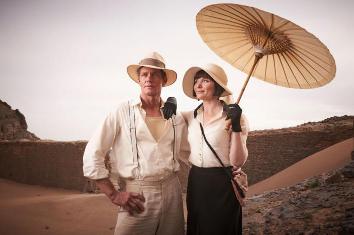 "Essie Davis and Nathan Page in ""MIss Fisher and the Crypt of Tears"" (Photo Credit: Every Cloud Productions/Ben King)"