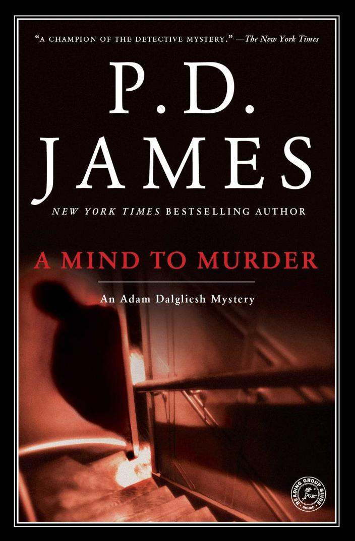 Book cover of A Mind to Murder, by P.D. James courtesy of Simon & Schuster ©2001