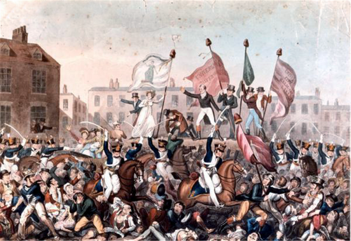Peterloo Massacre by Richard Carlile (1790–1843) - Manchester Library Services/Wikipedia