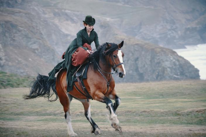 Finally a dramatic riding shot of Demelza  (Photo: Courtesy of Mammoth Screen)