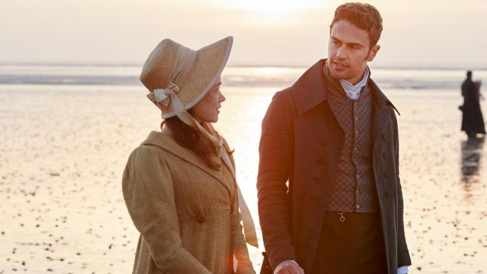 "Rose Williams and Theo James in ""Sanditon"" (Photo: Courtesy of Photographer: Simon Ridgway/© Red Planet Pictures / ITV 2019)"