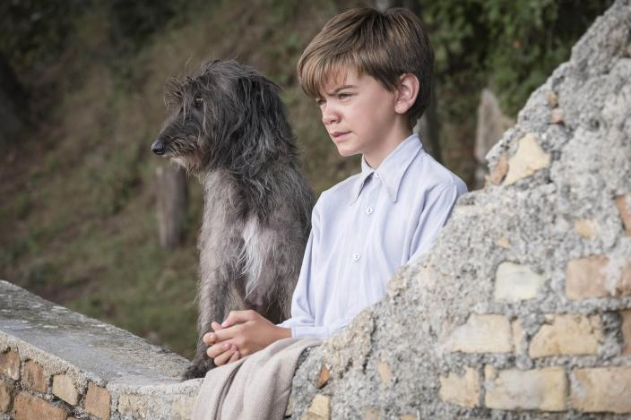 Gerry (Milo Parker) and his other best friend, Roger       (Photo:Courtesy of John Rogers/Sid Gentle Films for ITV and MASTERPIECE)