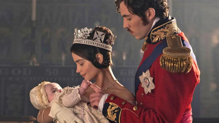 "A photo of Victoria, Albert and their daughter from ""Victoria"" Season 2. (Photo: Courtesy of GARETH GATTRELL/ITV Plc for MASTERPIECE)"