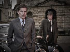 "Shaun Evans and Roger Allam in ""Endeavour"" (Photo: Courtesy of Jonathan Ford/Mammoth Screen for ITV and MASTERPIECE)"