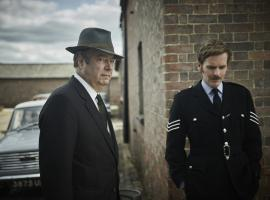 "Shaun Evans and Roger Allam in ""Endeavour"" Season 6 (Photo: Courtesy of Jonathan Ford and Mammoth for ITV and MASTERPIECE)"