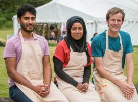 Great British Baking Show finalists Tamal, Nadiya and Ian   (Photo: Courtesy of Love Productions)