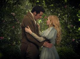 Marius and Cosette in their secret garden rendezvous (Photo:  Courtesy of Robert Viglasky / Lookout Point)