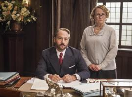 Mr. Selfridge and Miss Plunkett are basically not happy with life. (Photo: Courtesy of (C) ITV Studios for MASTERPIECE)