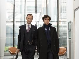 "Benedict Cumberbatch and Mark Gatiss in ""Sherlock"" Season 4 (Photo: Courtesy of Colin Hutton/Hartswood Films 2016 for MASTERPIECE)"