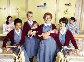 Nurse Anderson (LEONIE ELLIOTT), Nurse Franklin (HELEN GEORGE), Nurse Crane (LINDA BASSETT) and Nurse Dyer (JENNIFER KIRBY) are back on the job   Credit: Courtesy of BBC / Neal Street Productions